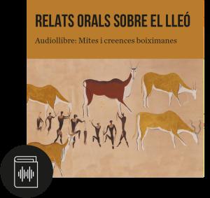 Portada de l'audiollibre «Relats orals sobre el lleó» de l'editorial a cau d'orella